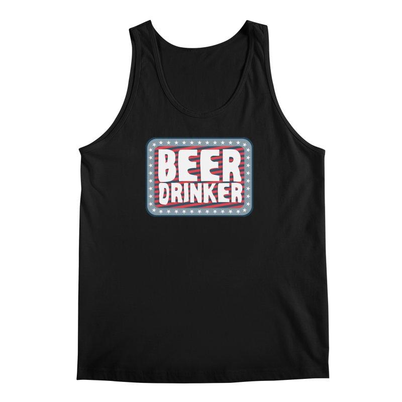 Beer Drinker #2 Men's Tank by wislander's Artist Shop