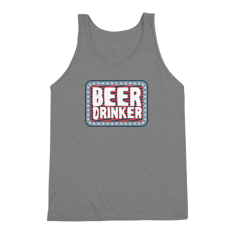 Beer Drinker #2 Men's Triblend Tank by wislander's Artist Shop