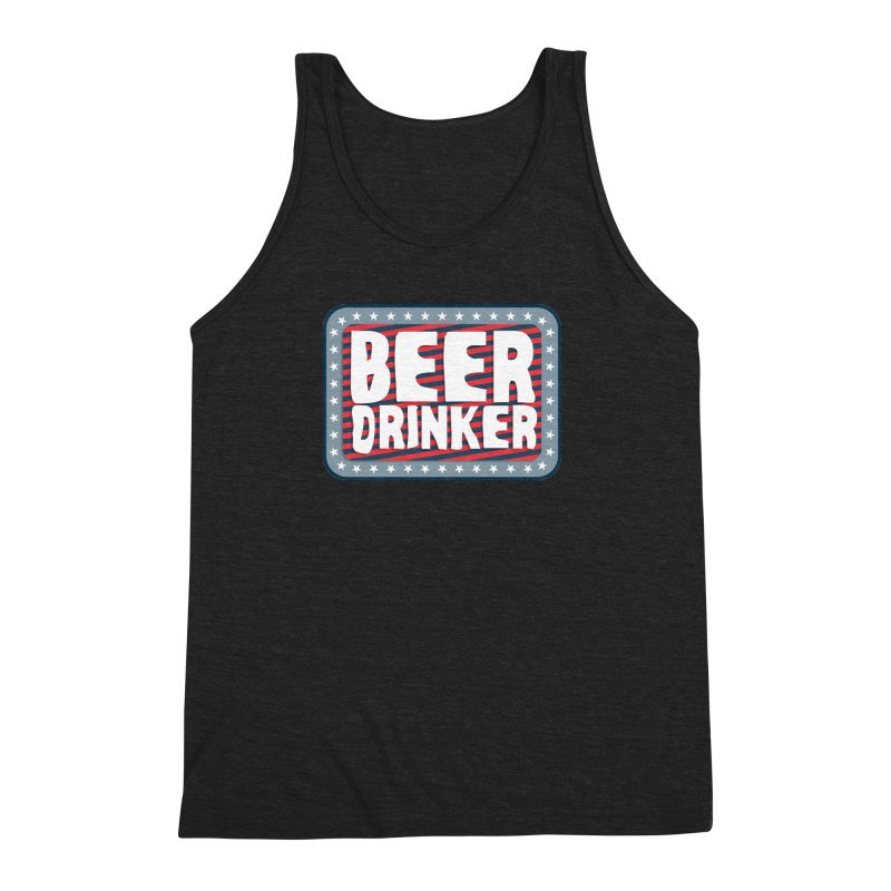 Beer Drinker #2 Men's Triblend Tank by wislander's Artist Shop