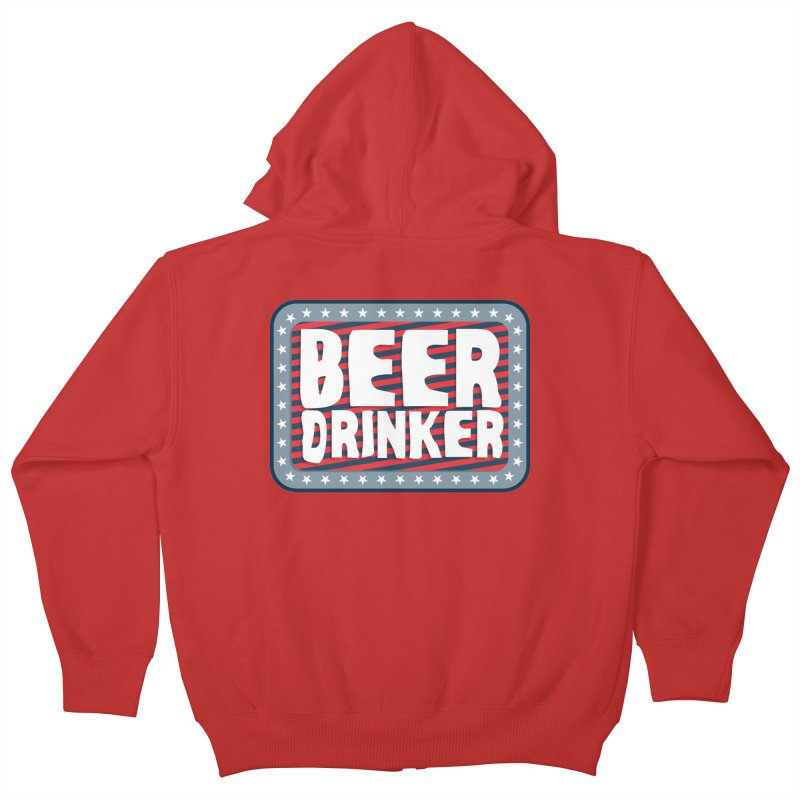 Beer Drinker #2 Kids Zip-Up Hoody by wislander's Artist Shop