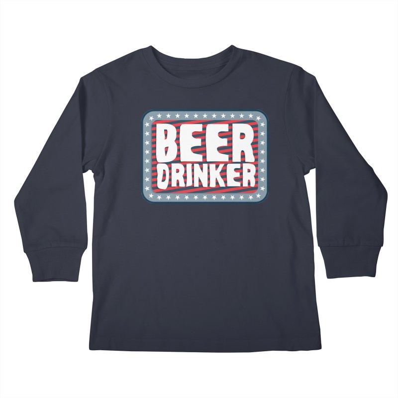 Beer Drinker #2 Kids Longsleeve T-Shirt by wislander's Artist Shop
