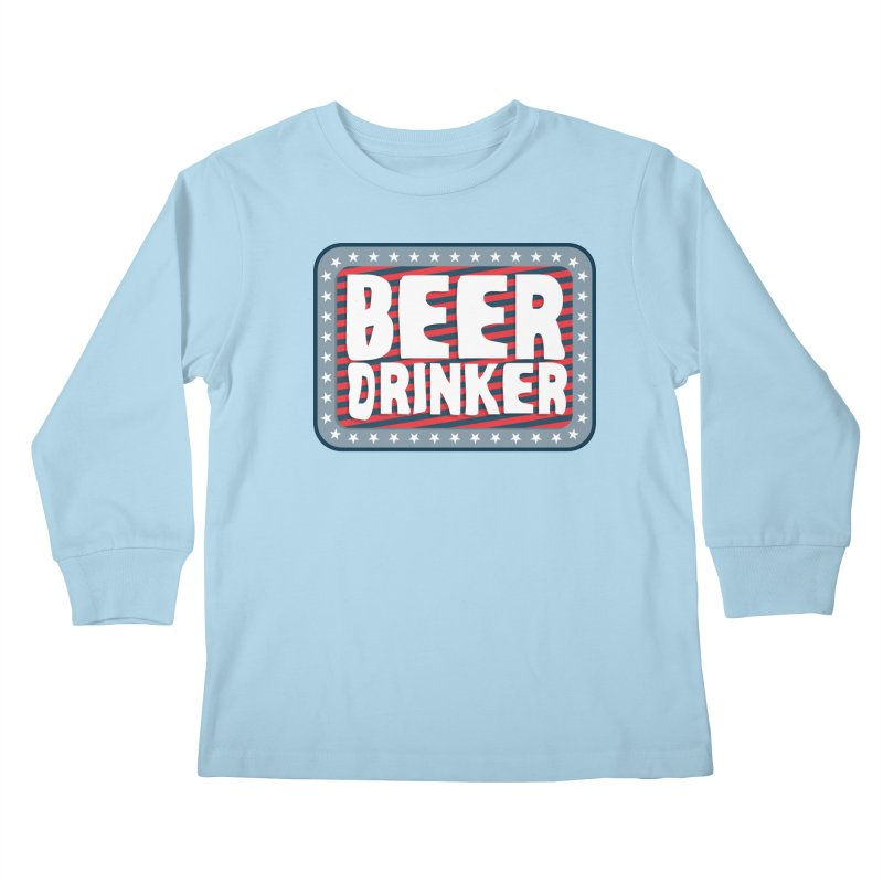 Beer Drinker #2 Kids Longsleeve T-Shirt by wislander's Artist Shop