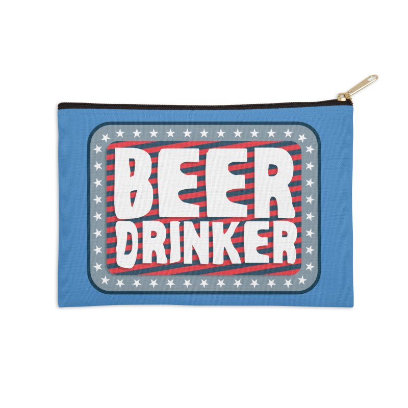 Beer Drinker #2 Accessories Zip Pouch by wislander's Artist Shop