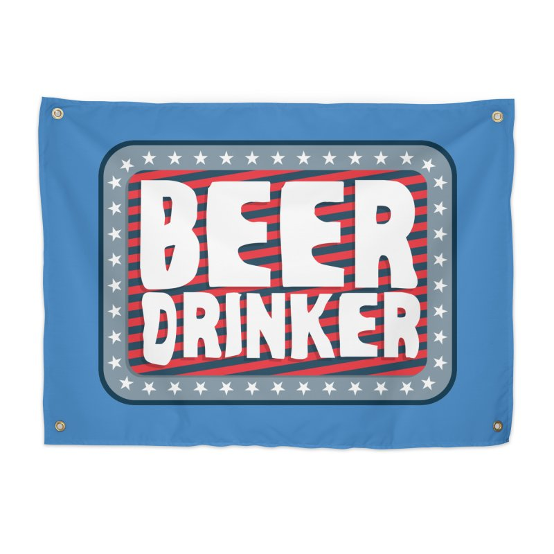 Beer Drinker #2 Home Tapestry by wislander's Artist Shop