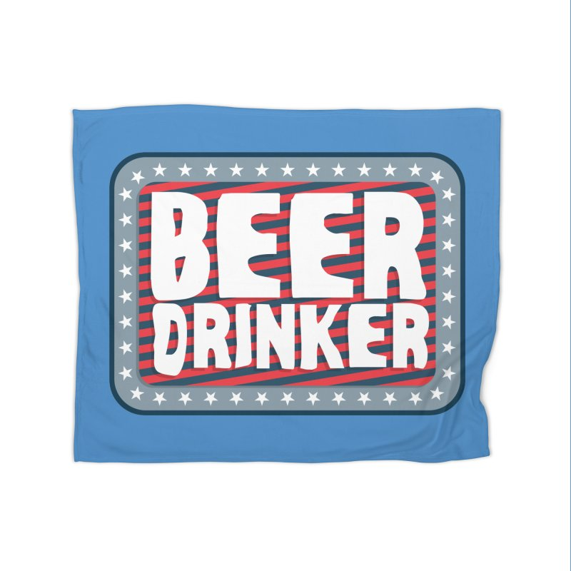 Beer Drinker #2 Home Blanket by wislander's Artist Shop