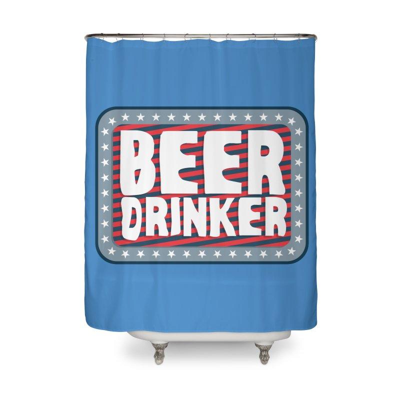 Beer Drinker #2 Home Shower Curtain by wislander's Artist Shop