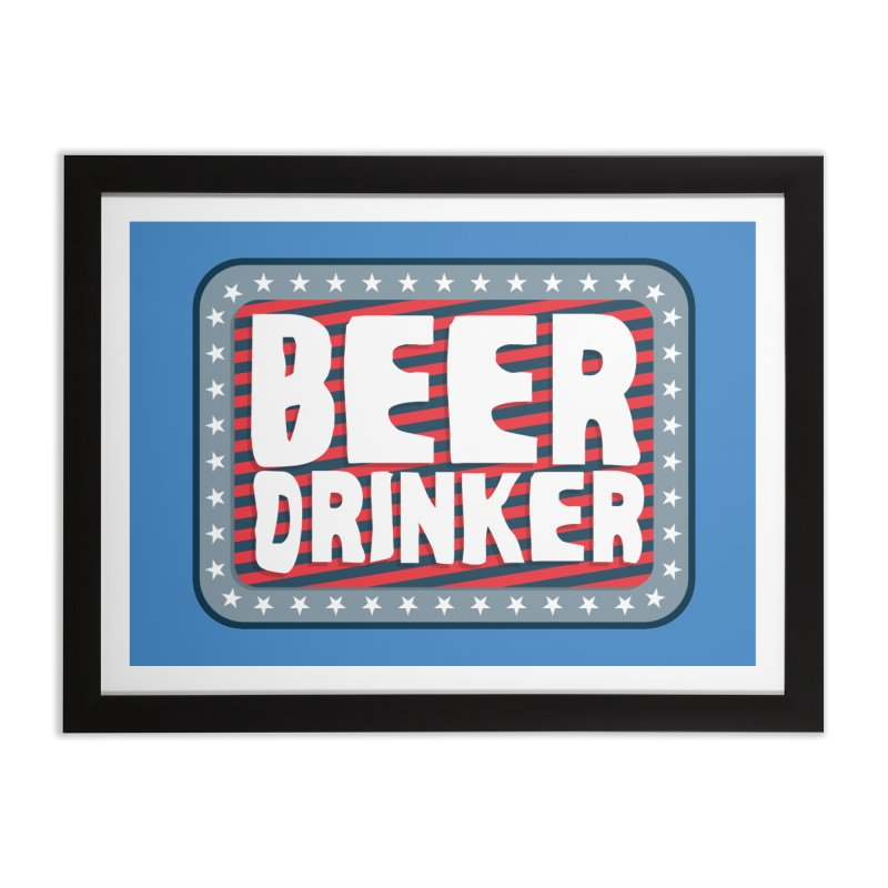 Beer Drinker #2 Home Framed Fine Art Print by wislander's Artist Shop