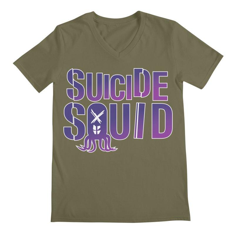Suicide Squid Men's Regular V-Neck by wislander's Artist Shop