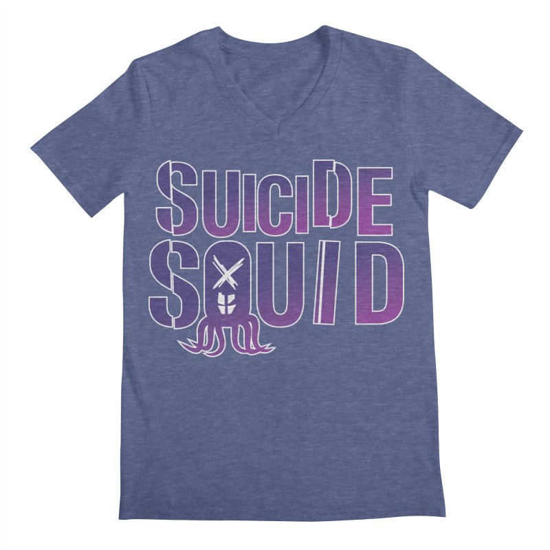 Suicide Squid Men's V-Neck by wislander's Artist Shop
