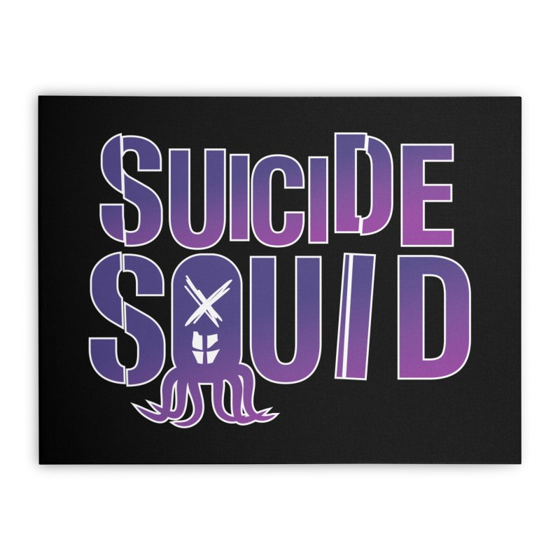 Suicide Squid Home Stretched Canvas by wislander's Artist Shop