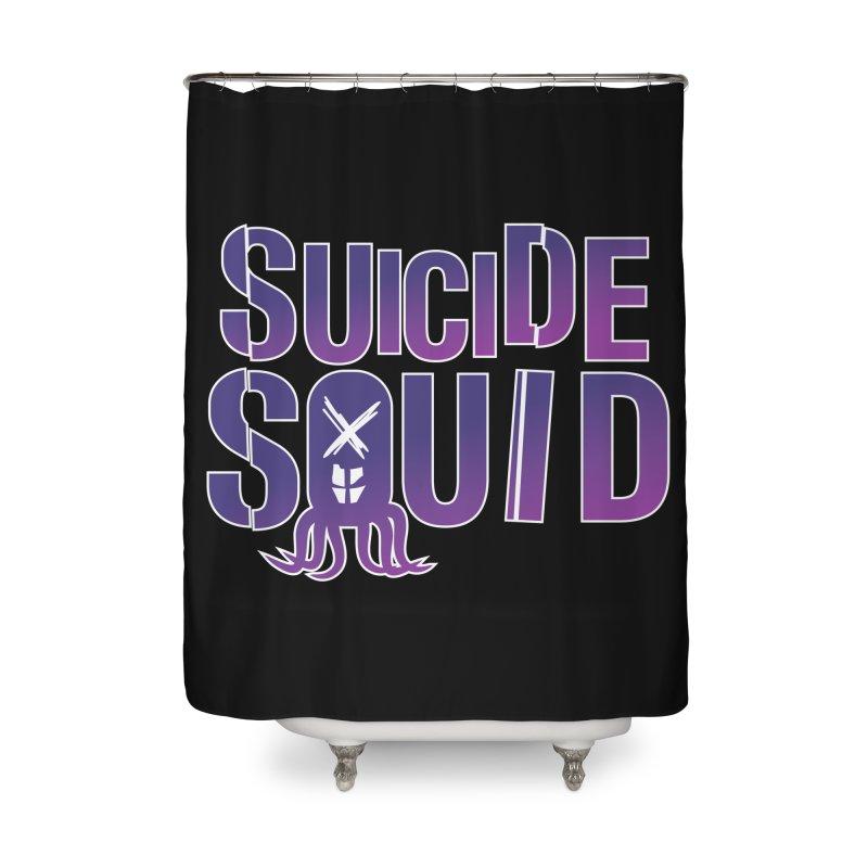 Suicide Squid Home Shower Curtain by wislander's Artist Shop