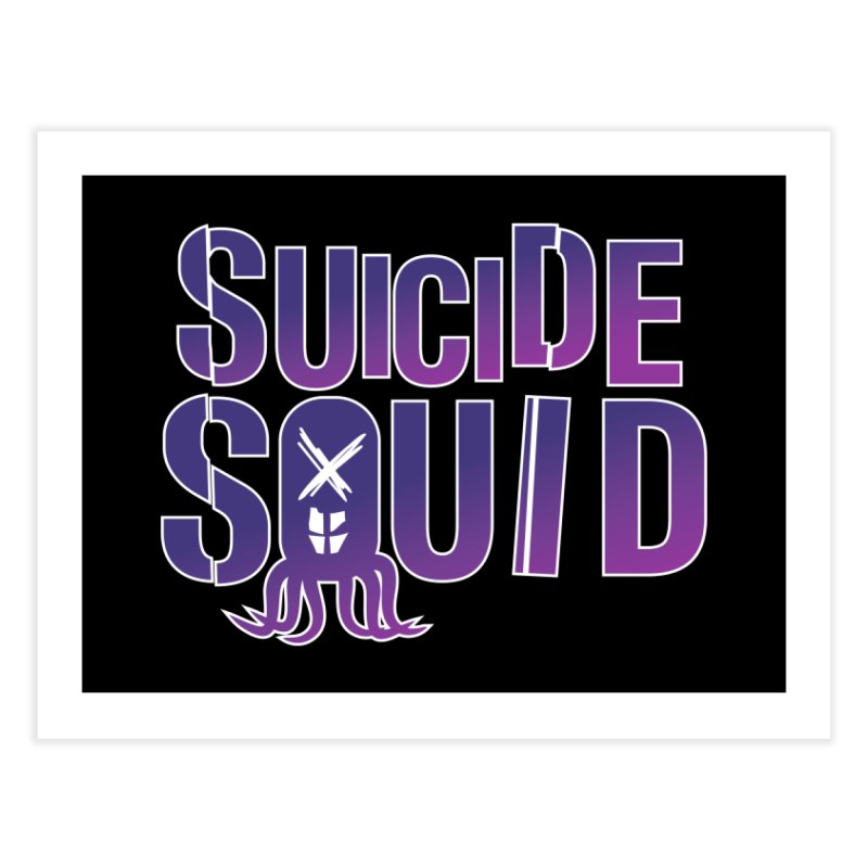 Suicide Squid Home Fine Art Print by wislander's Artist Shop