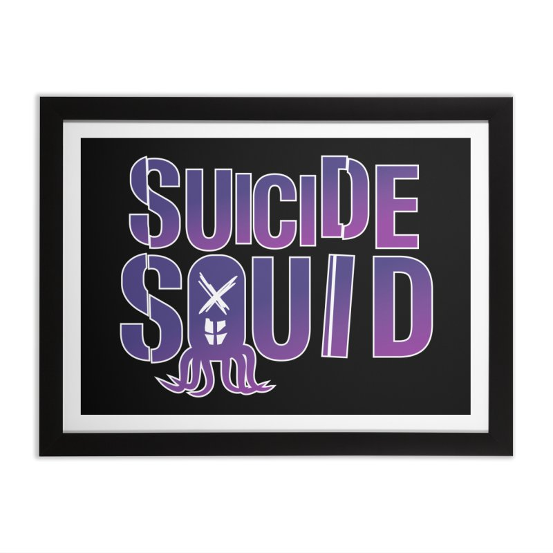 Suicide Squid Home Framed Fine Art Print by wislander's Artist Shop