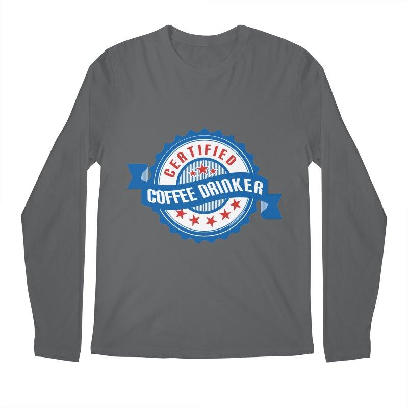 Certified Coffee Drinker Men's Longsleeve T-Shirt by wislander's Artist Shop