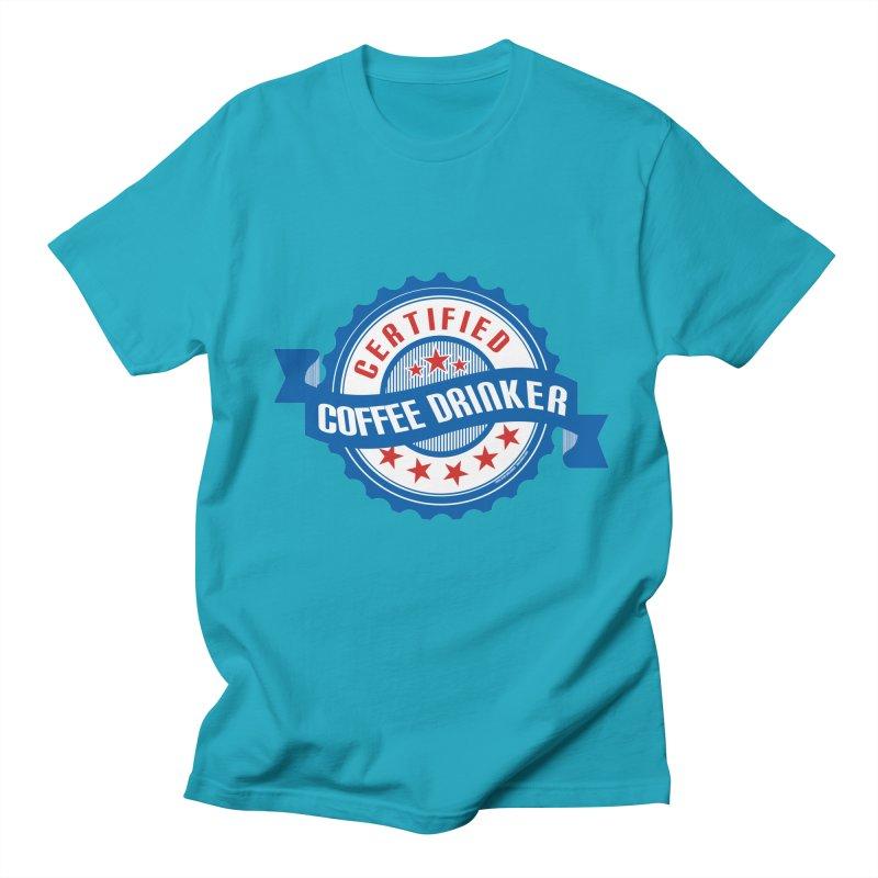 Certified Coffee Drinker Men's T-Shirt by wislander's Artist Shop