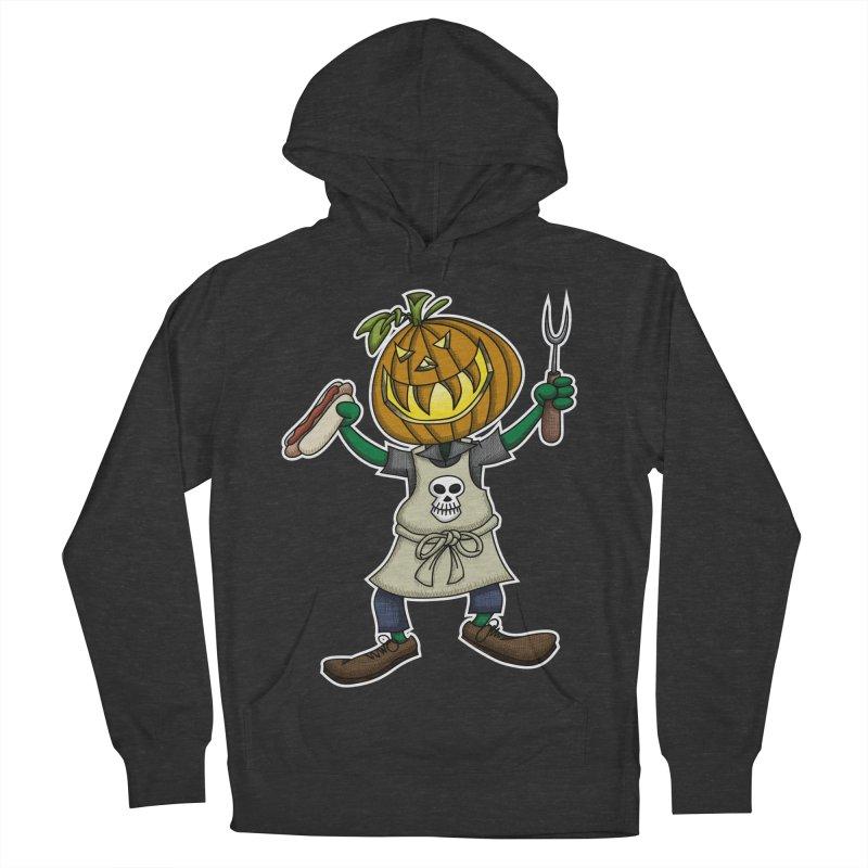 Pumpkinhead Grilling Women's Pullover Hoody by wislander's Artist Shop