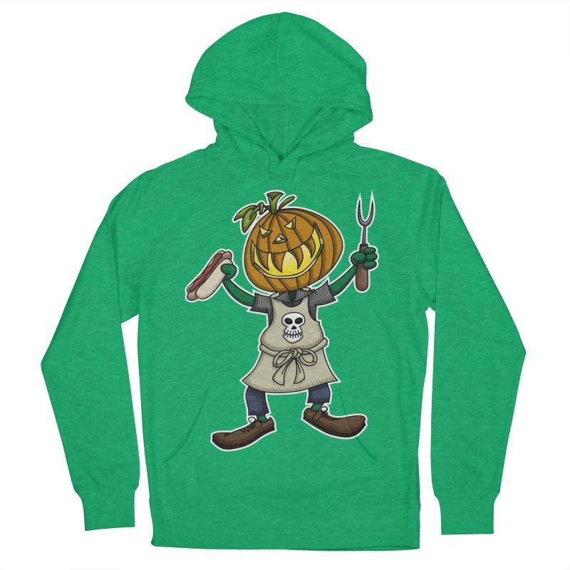 Pumpkinhead Grilling Men's Pullover Hoody by wislander's Artist Shop