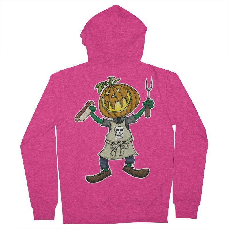 Pumpkinhead Grilling Women's Zip-Up Hoody by wislander's Artist Shop