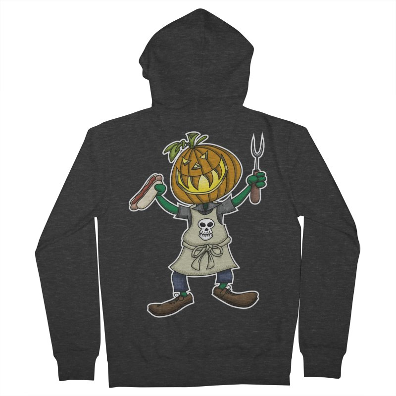 Pumpkinhead Grilling Men's Zip-Up Hoody by wislander's Artist Shop
