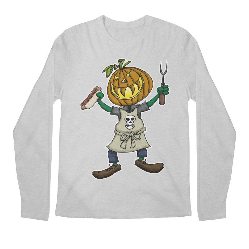 Pumpkinhead Grilling Men's Longsleeve T-Shirt by wislander's Artist Shop