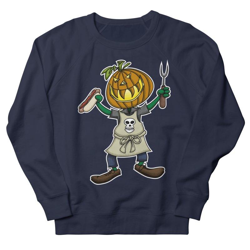 Pumpkinhead Grilling Women's Sweatshirt by wislander's Artist Shop