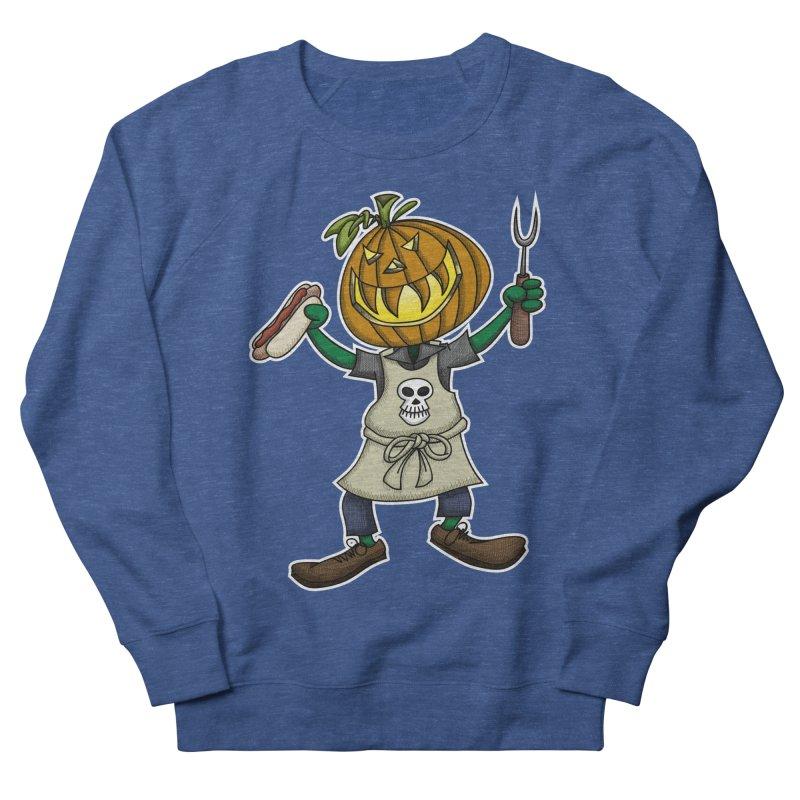 Pumpkinhead Grilling Men's Sweatshirt by wislander's Artist Shop