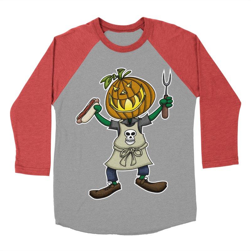 Pumpkinhead Grilling Women's Baseball Triblend Longsleeve T-Shirt by wislander's Artist Shop
