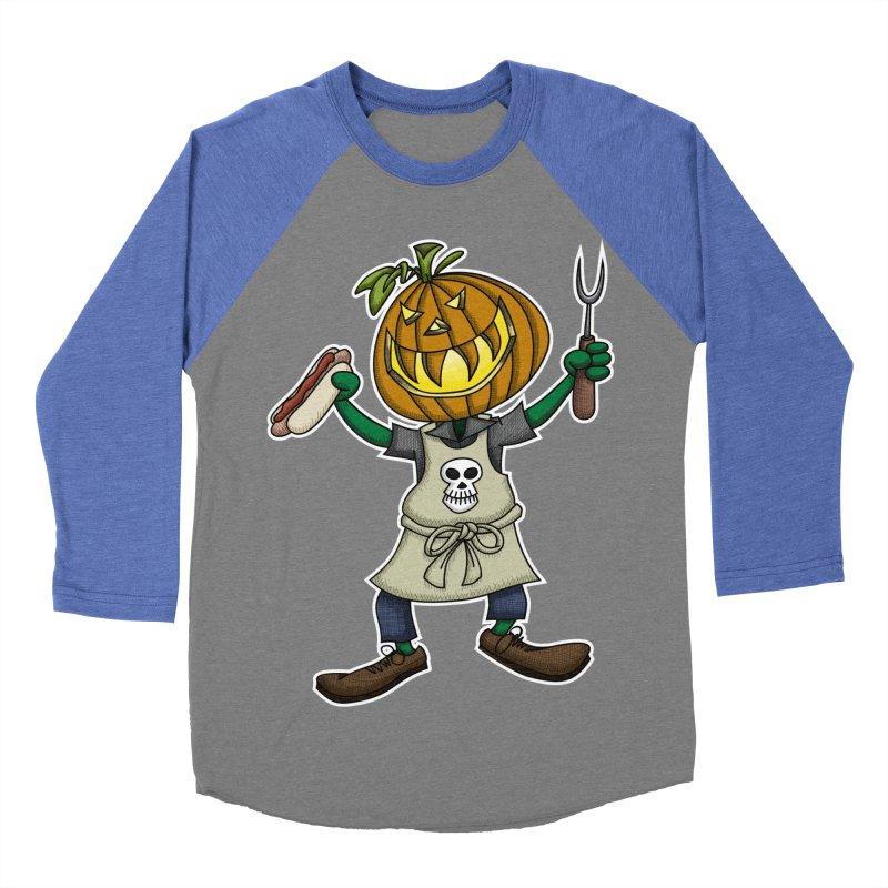 Pumpkinhead Grilling Men's Baseball Triblend T-Shirt by wislander's Artist Shop