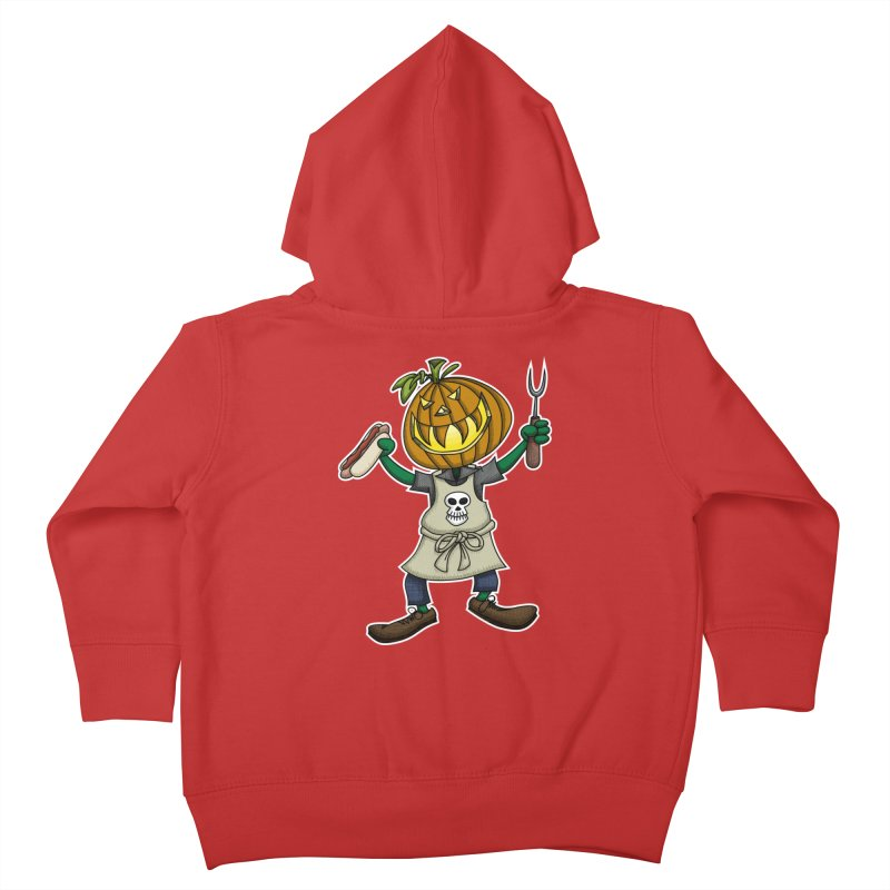 Pumpkinhead Grilling Kids Toddler Zip-Up Hoody by wislander's Artist Shop