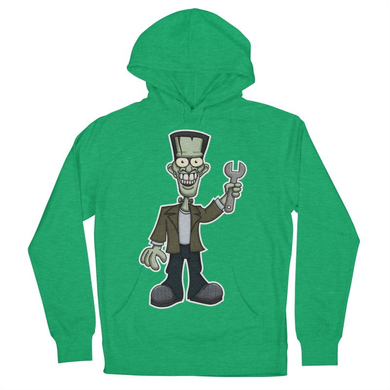 Frankenstein with a Wrench Men's Pullover Hoody by wislander's Artist Shop