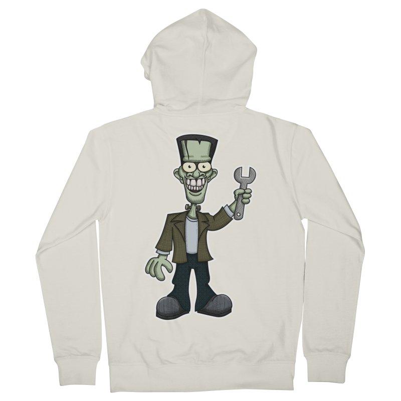 Frankenstein with a Wrench Men's Zip-Up Hoody by wislander's Artist Shop