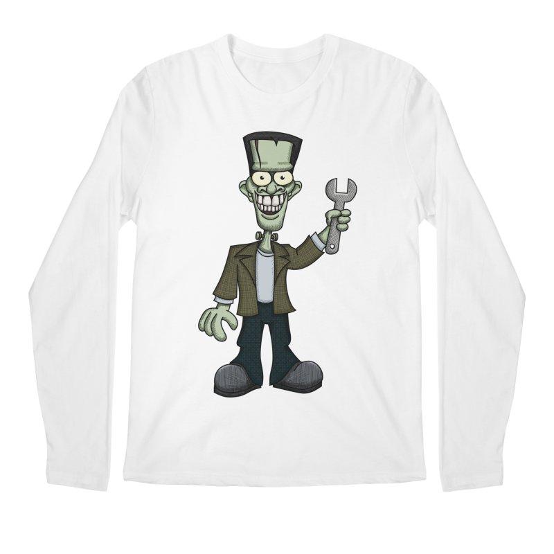 Frankenstein with a Wrench Men's Longsleeve T-Shirt by wislander's Artist Shop