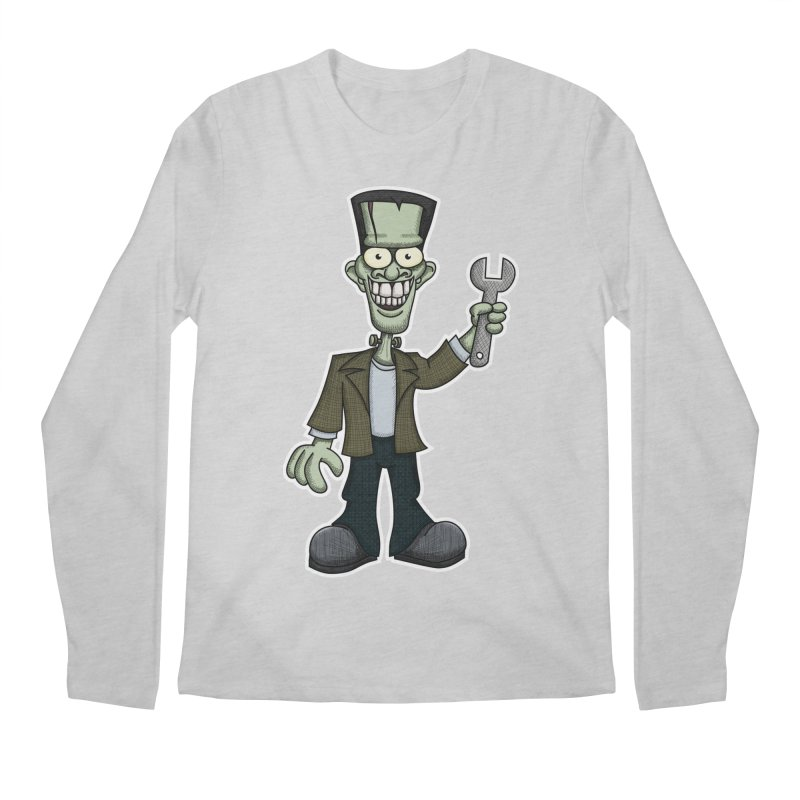 Frankenstein with a Wrench Men's Longsleeve T-Shirt by wislander's Artist Shop