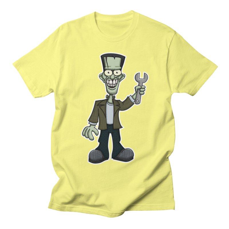 Frankenstein with a Wrench Men's T-Shirt by wislander's Artist Shop