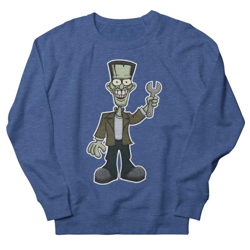 Frankenstein with a Wrench Women's French Terry Sweatshirt by wislander's Artist Shop
