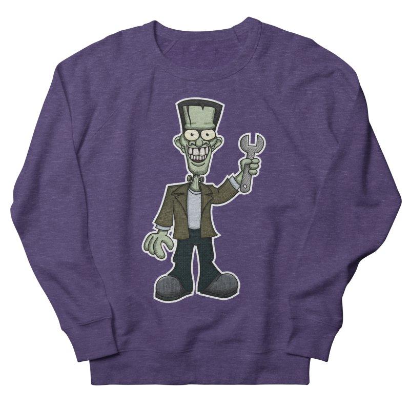 Frankenstein with a Wrench Men's Sweatshirt by wislander's Artist Shop