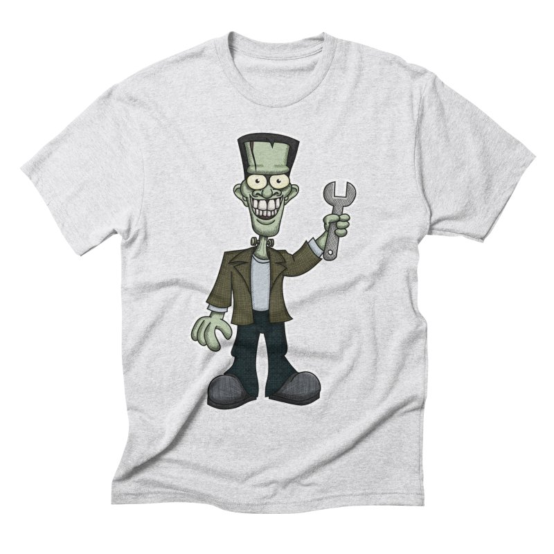 Frankenstein with a Wrench Men's Triblend T-Shirt by wislander's Artist Shop