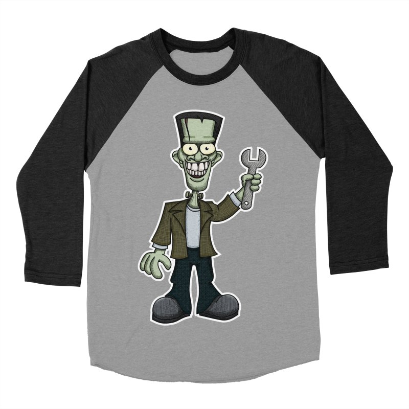 Frankenstein with a Wrench Women's Baseball Triblend T-Shirt by wislander's Artist Shop