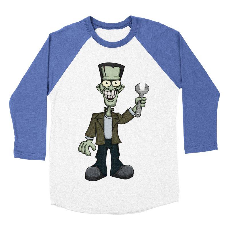 Frankenstein with a Wrench Men's Baseball Triblend T-Shirt by wislander's Artist Shop