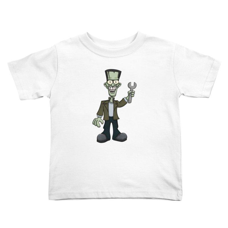 Frankenstein with a Wrench Kids Toddler T-Shirt by wislander's Artist Shop
