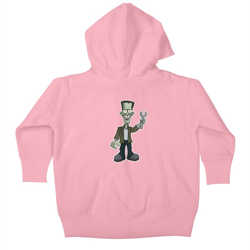 Frankenstein with a Wrench Kids Baby Zip-Up Hoody by wislander's Artist Shop