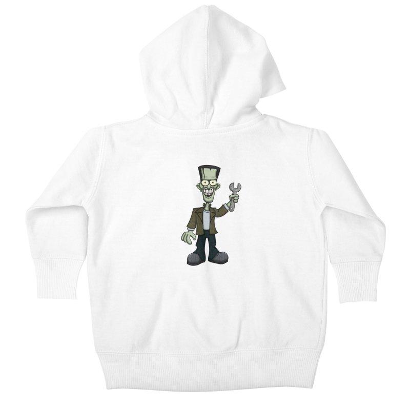 Frankenstein with a Wrench Kids Baby Zip-Up Hoody by wislander's Artist Shop