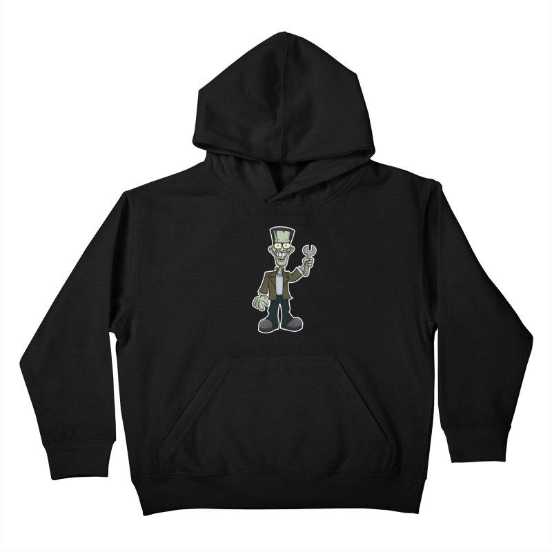 Frankenstein with a Wrench Kids Pullover Hoody by wislander's Artist Shop