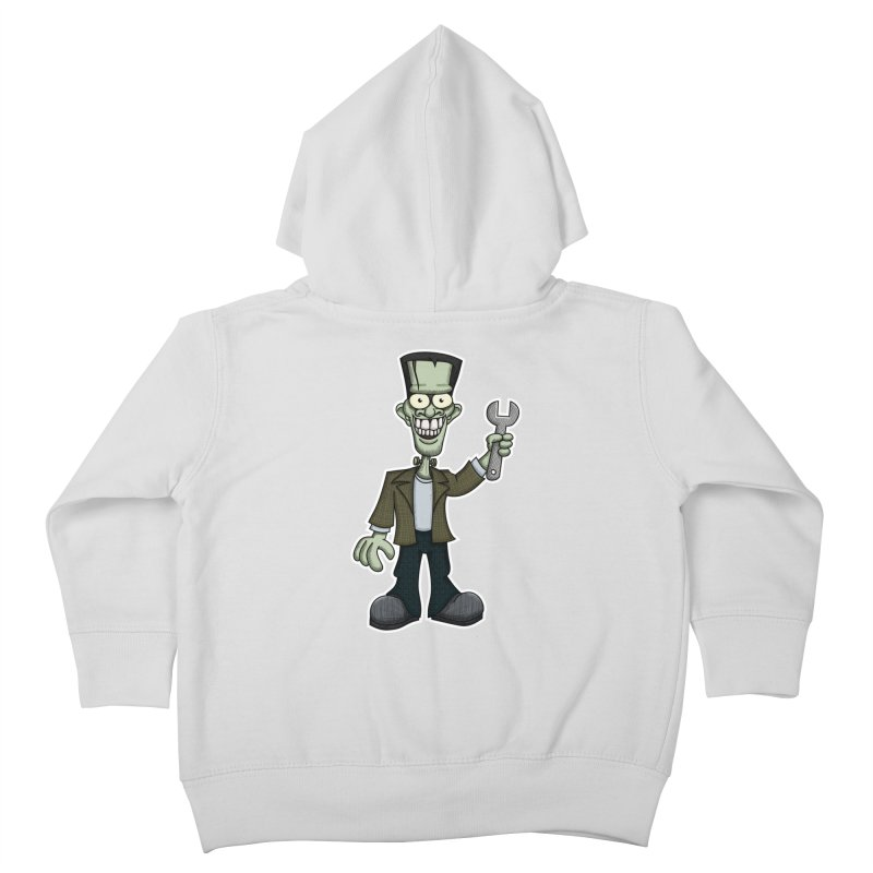 Frankenstein with a Wrench Kids Toddler Zip-Up Hoody by wislander's Artist Shop