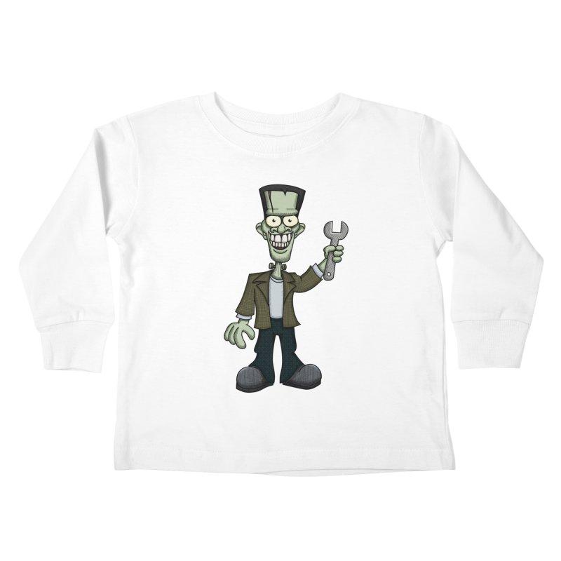 Frankenstein with a Wrench Kids Toddler Longsleeve T-Shirt by wislander's Artist Shop