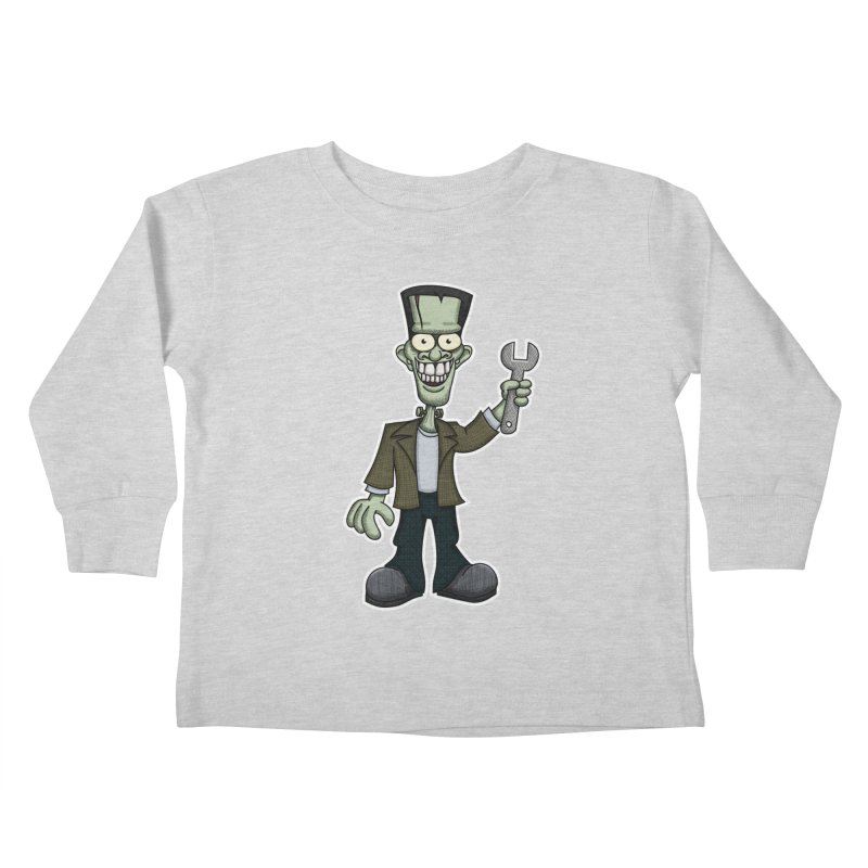 Frankenstein with a Wrench Kids Toddler Longsleeve T-Shirt by wislander's Artist Shop