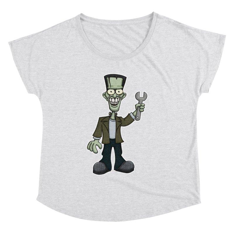 Frankenstein with a Wrench Women's Dolman by wislander's Artist Shop