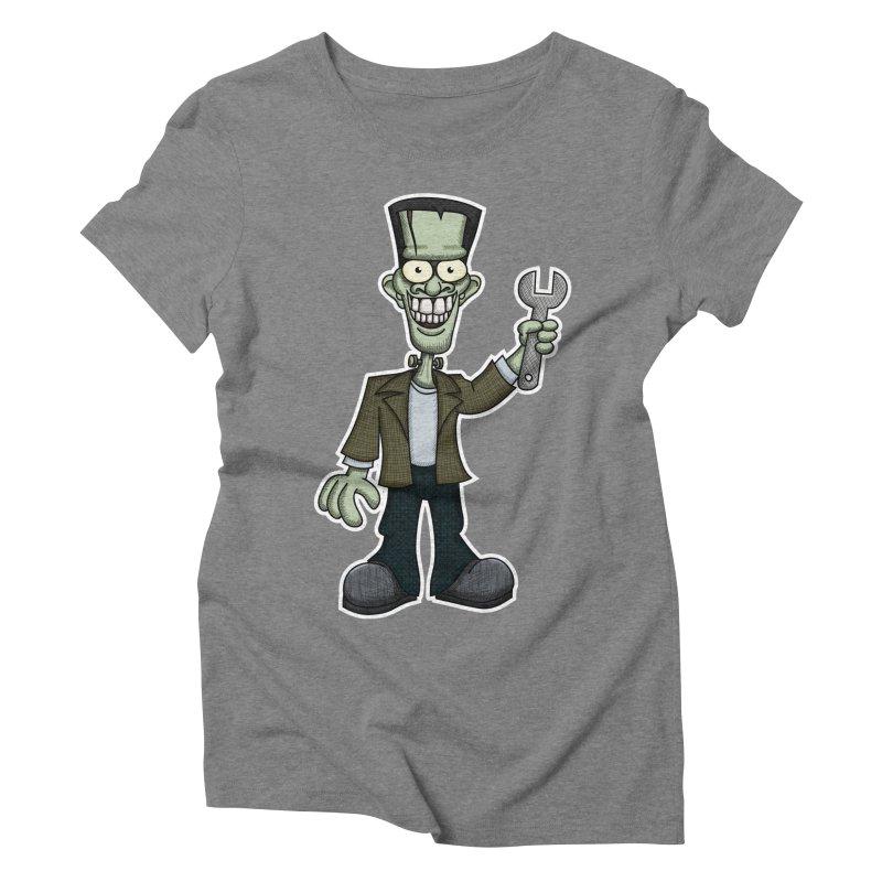 Frankenstein with a Wrench Women's Triblend T-shirt by wislander's Artist Shop