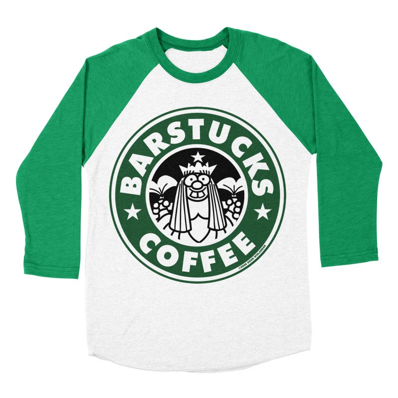 Barstucks Coffee Women's Baseball Triblend T-Shirt by wislander's Artist Shop