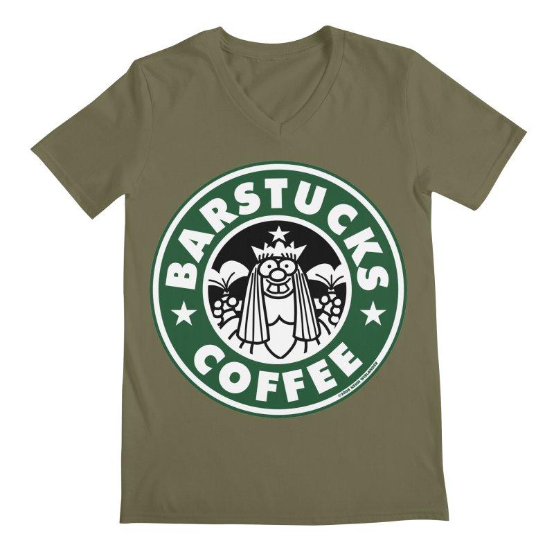 Barstucks Coffee Men's V-Neck by wislander's Artist Shop